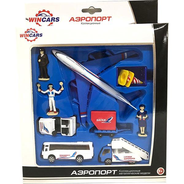 Wincars Набор металлических машин и аксессуаров - аэропорт