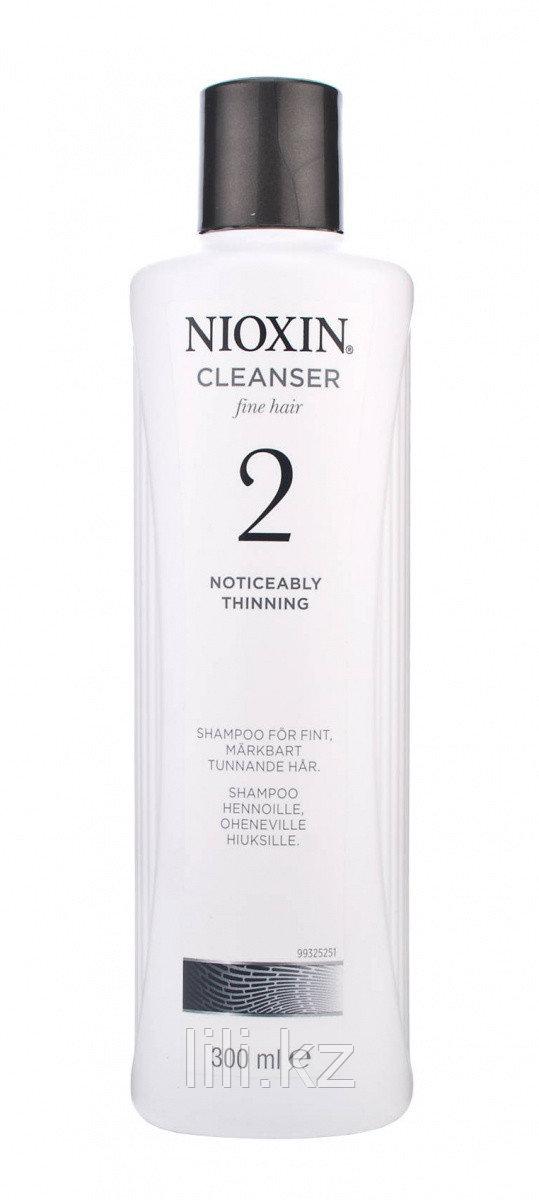 Шампунь очищающий для натуральных заметно редеющих волос Nioxin Cleanser Shampoo System 2, 300 мл.