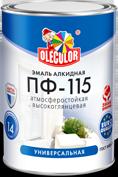 Эмаль ПФ-115 вишневая 0.8 кг Olecolor