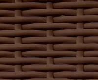 Ротанг полоса 7мм,мелкое рифление,коричневый