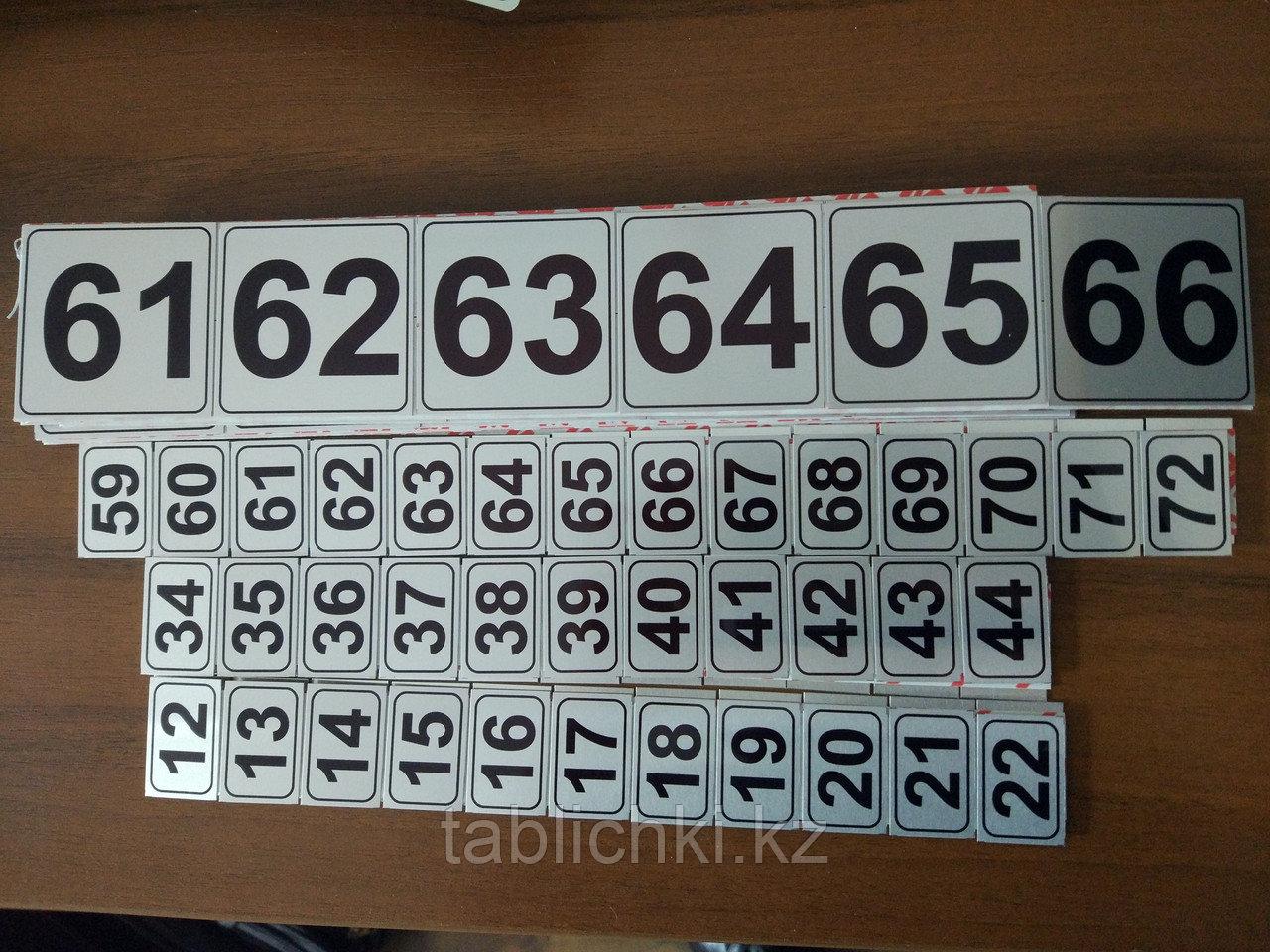 Номерки на почтовые ящики, шкафы, квартиры