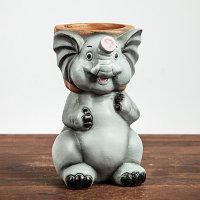 """Фигурное кашпо """"Слон"""", 13х21 см"""