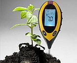 Электронный измеритель pH, влажности, температуры и освещенности почвы, фото 2