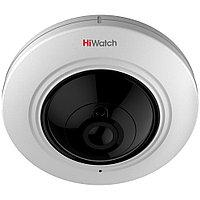 DS-T501 5Мп внутренняя панорамная HD-TVI камера с ИК-подсветкой до 20м; fisheye объектив 1.1мм; угол обзора 18