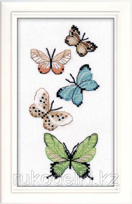 """Набор для вышивания крестом на одежде """"Бабочки"""""""