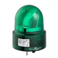 Зелёная вращающая лампа маячок 24 В пер./пост. тока, IP23, Монтажный диаметр 120 мм.