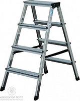 Двухсторонняя лестница-стремянка 2х3 ступ. SePro® D с анодированным покрытием, фото 1