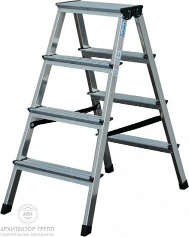 Двухсторонняя лестница-стремянка 2х4 ступ. SePro® D с анодированным покрытием
