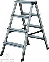Двухсторонняя лестница-стремянка 2х4 ступ. SePro® D с анодированным покрытием, фото 1