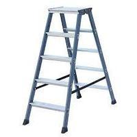 Двухсторонняя лестница-стремянка 2х5 ступ. SePro® D с анодированным покрытием, фото 1
