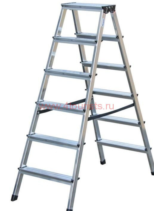 Двухсторонняя лестница-стремянка 2х6 ступ. SePro® D с анодированным покрытием