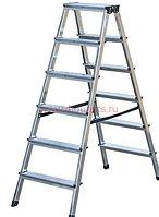 Двухсторонняя лестница-стремянка 2х6 ступ. SePro® D с анодированным покрытием, фото 1
