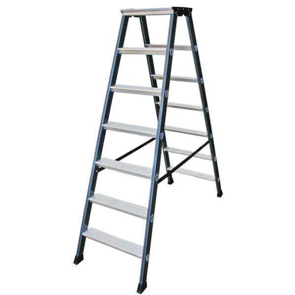 Двухсторонняя лестница-стремянка 2х7 ступ. SePro® D с анодированным покрытием
