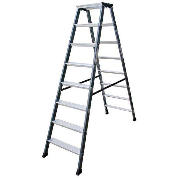 Двухсторонняя лестница-стремянка 2х8 ступ. SePro® D с анодированным покрытием