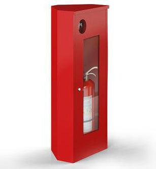 Шкаф для огнетушителя ШПО-05 угловой для 1 (до ОП-10)