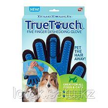 Массажная перчатка True Touch для ухода за шерстью