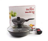 Сковорода с каменным покрытием Nice cooker со съемной ручкой 24 см, 1,7 л