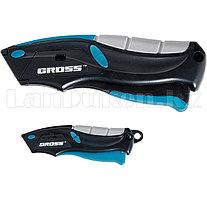 Набор ножей,рем-монтаж,трехкомп.рук-ки,авто выброс/возврат л,100мм+2з.л и 170мм+5з.л, 2 шт// GROSS 78876 (002)