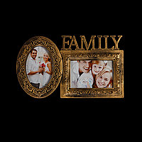 "Фоторамка сложная на 2 фото ""Family"" BK6"