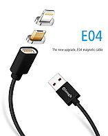 """Магнитный шнур-зарядка """"Elough """" 2 в 1 с индикатором на два коннектора (Android, IOS)"""