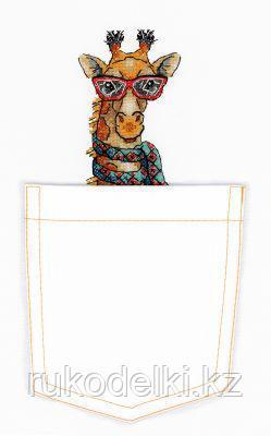 """Набор для вышивки на одежде """"Жираф"""""""