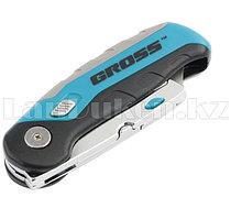 Нож,рем-монт,скл,3хкомп.рук-ка,конт-держ для лезв,175мм+2з.л//GROSS 78882 (002)
