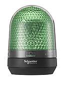 Зелёный сигнальный маячок, без зуммера, 12...24 В пост ток,IP65,  монтажный диаметр 100мм.