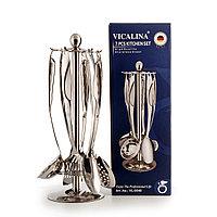 Набор из 6 кухонных предметов на металлической подставке VICALLINA