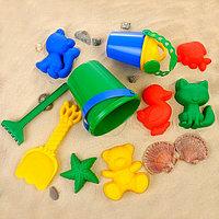 Набор для игры в песке (ведро, 6 формочек, совок, грабли, лейка)