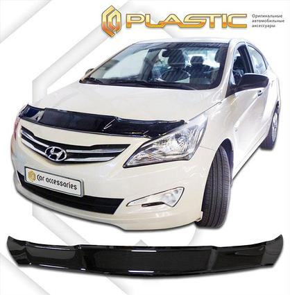 Дефлектор капота Hyundai Solaris (Accent) 2014-2017