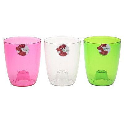"""Кашпо 1,5 л """"Орхидея"""", цвет розовый, фото 2"""