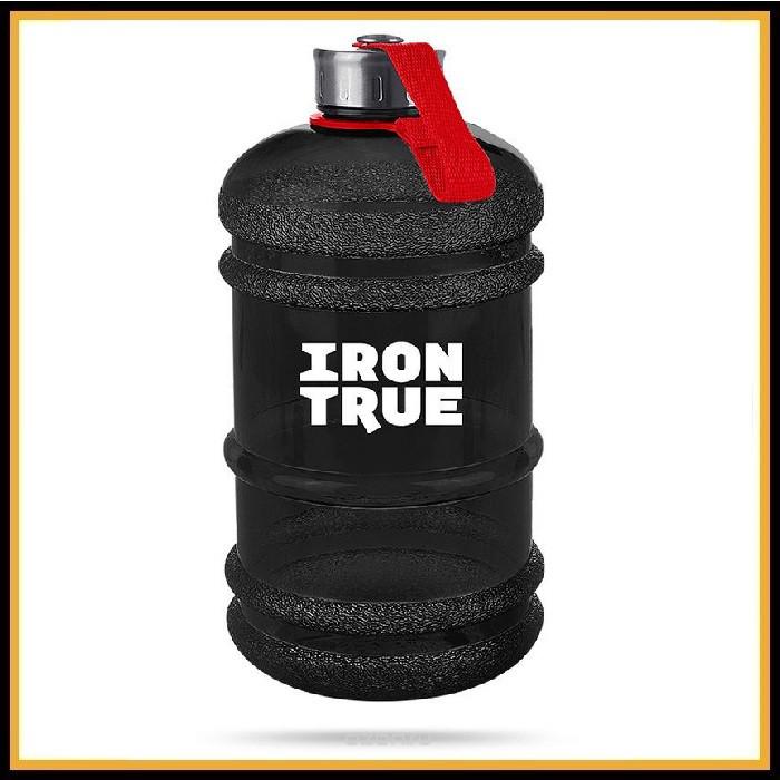 Бутыль Iron True 2200 мл черная металич крышка