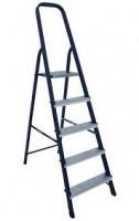 Стальная лестница-стремянка 5-и ступ Н=1,03/3,10м (М8305)