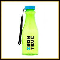 Бутылка классическая 750мл Iron True сине-зеленая