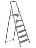 Стальная лестница-стремянка 6-и ступ Н=1,24/3,30м (М8406)