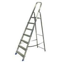 Алюминиевая лестница-стремянка 7-и ступ, Н=1,45/3,50м (Ам707)