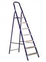 Стальная лестница-стремянка 7-и ступ Н=1,45/3,50м (М8407)
