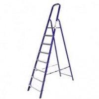 Стальная лестница-стремянка 8-и ступ Н=1,66/3,70м (М8408)