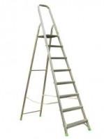 Алюминиевая лестница-стремянка 8-и ступ, Н=1,66/3,70м ( Ам708)