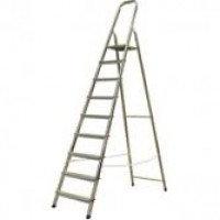 Алюминиевая лестница-стремянка 9-и ступ, Н=1,87/3,90м (Ам709)