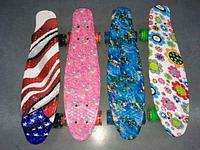 Скейт Penny Board {Пенни Борд} на алюминиевой платформе (С принтом)