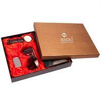 Подарочный комплект мужских аксессуаров «Стильный аристократ» JESOU [80280] (Коричневый)