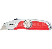 Нож, 18 мм выдвижное трапецивидное лезвие , эргономичная двухкомпонентная рукоятка// Matrix 78926 (002)