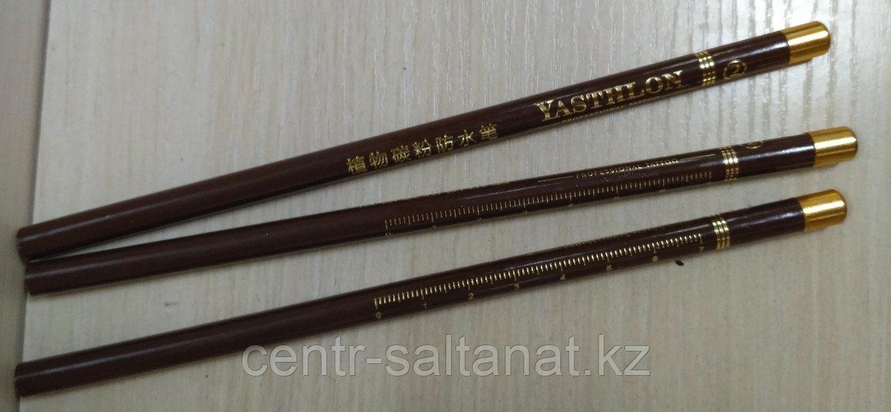 Карандаш коричневый для нанесения эскиза на тело
