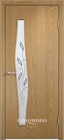"""Межкомнатная дверь Verda Тип С-10 (остекленное """"САТИНАТО"""" Витраж/ Витраж 2)"""
