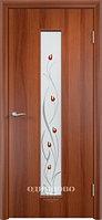 Межкомнатная дверь Verda Тип С-17 (остекленное с фьюзингом)Витраж