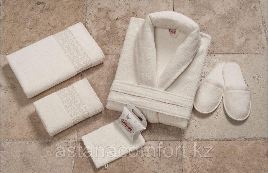 Махровый мужской халат и 5 предметов. Подарочный набор. Турция.