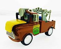 Мэтр с желтым капотом - инерционная металлическая машинка., фото 1