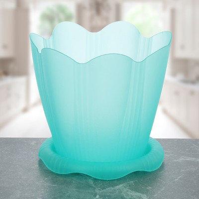 """Горшок для орхидей """"Эдельвейс"""" 1,5 л =16 см с поддоном, цвет зеленый прозрачный, фото 2"""