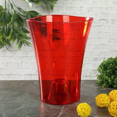 """Кашпо 1,3 л """"Волна орхидейная"""", цвет красный, фото 2"""